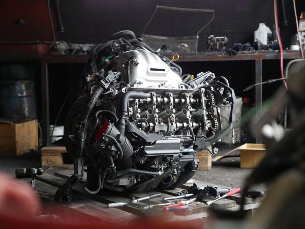 car engine reconditioning in a mechanic workshop
